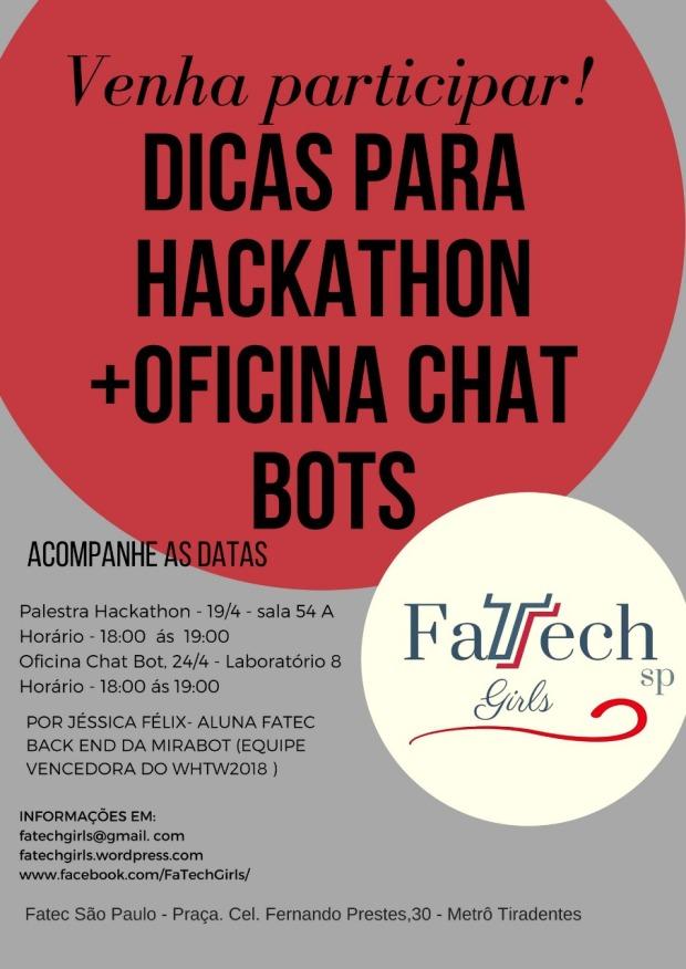 convite hackathon+chatbot